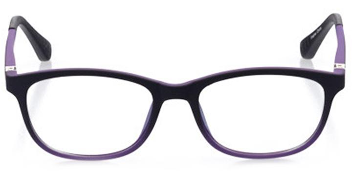 kalamazoo: girls' oval eyeglasses in purple - front view