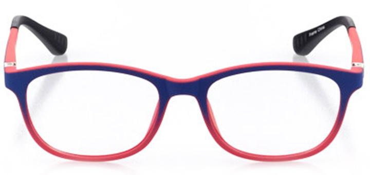 kalamazoo: girls' oval eyeglasses in pink - front view