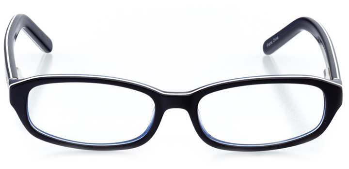 santa ana: oval eyeglasses in blue - front view