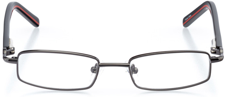 warwick: boys' rectangle eyeglasses in gray - front view