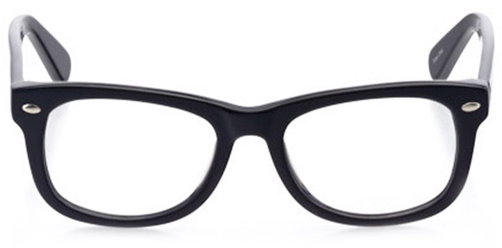 denver: square eyeglasses in black - front view