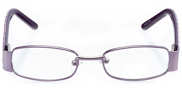 phoenix: girls' rectangle eyeglasses in purple - front view