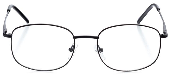 bozeman: men's oval eyeglasses in gray - front view