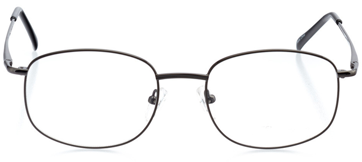 bozeman: men's oval eyeglasses in black - front view