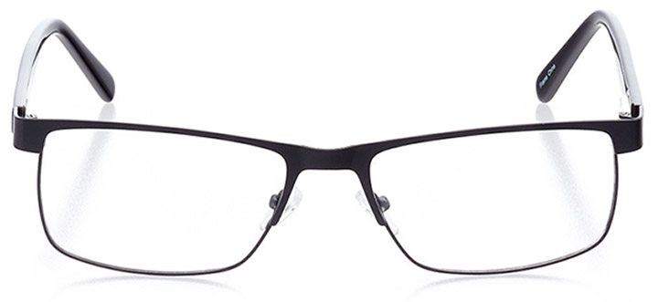 granby: men's rectangle eyeglasses in black - front view