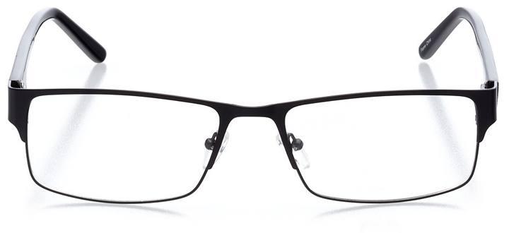 saratov: men's rectangle eyeglasses in black - front view