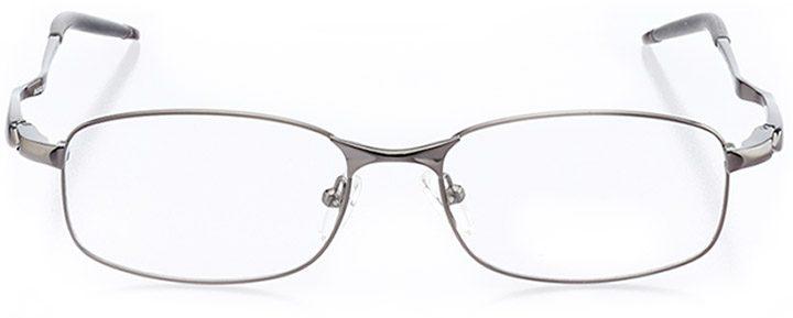 half moon  bay: men's rectangle eyeglasses in gray - front view