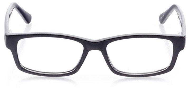 st. simons island: women's rectangle eyeglasses in black - front view