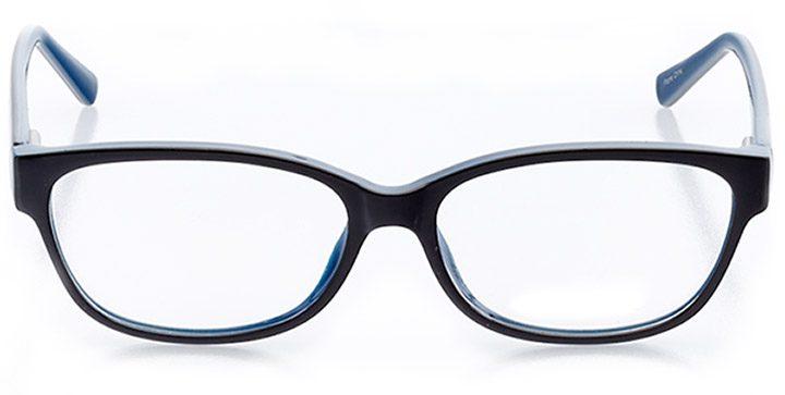 malibu: women's cat eye eyeglasses in blue - front view