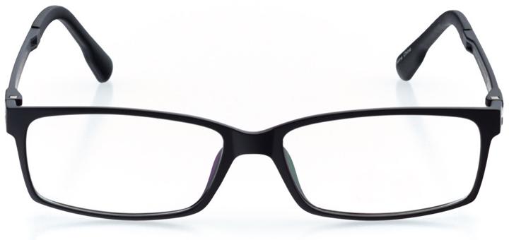 olten: men's rectangle eyeglasses in black - front view