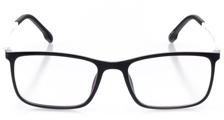 martigny: men's rectangle eyeglasses in black - front view