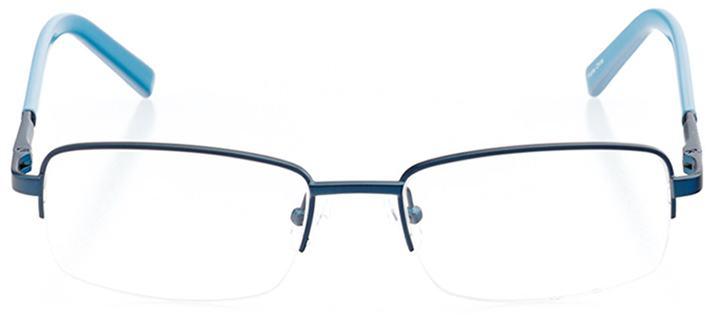 frankfurt: men's rectangle eyeglasses in blue - front view