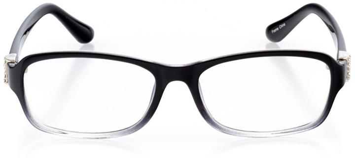 braga: women's rectangle eyeglasses in black - front view