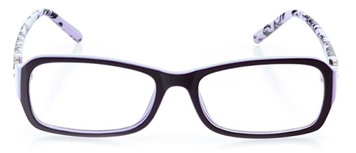canberra: women's rectangle eyeglasses in purple - front view