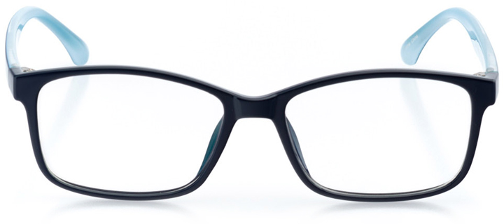 colombo: women's square eyeglasses in blue - front view