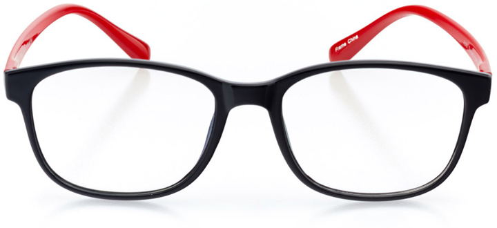 san juan: women's square eyeglasses in red - front view