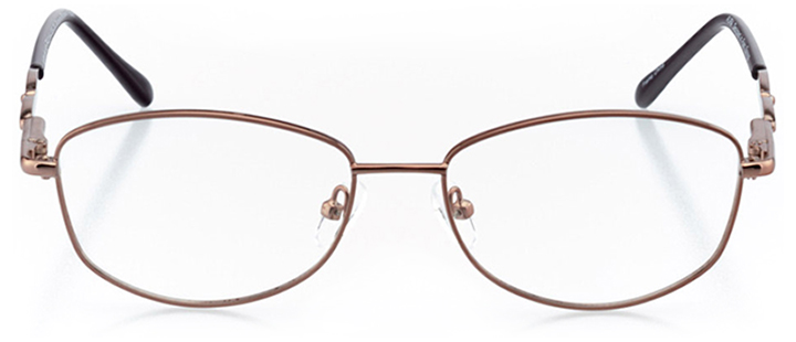 cali: women's square eyeglasses in brown - front view