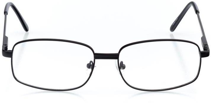park city: men's square eyeglasses in black - front view