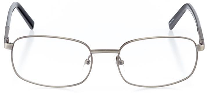 cortez: men's rectangle eyeglasses in gray - front view