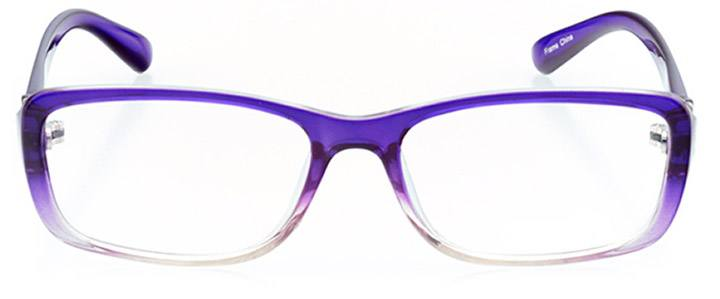 magdalena: women's rectangle eyeglasses in purple - front view