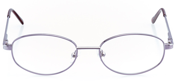 chandler: women's oval eyeglasses in purple - front view