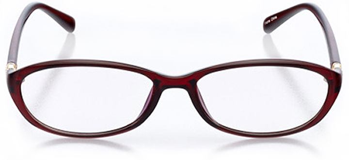 sedona: women's oval eyeglasses in red - front view