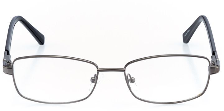 sioux falls: women's rectangle eyeglasses in gray - front view
