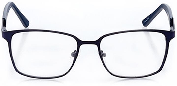 stockton: men's square eyeglasses in blue - front view