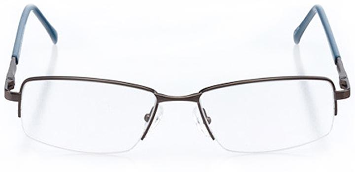 ocean city: men's rectangle eyeglasses in gray - front view