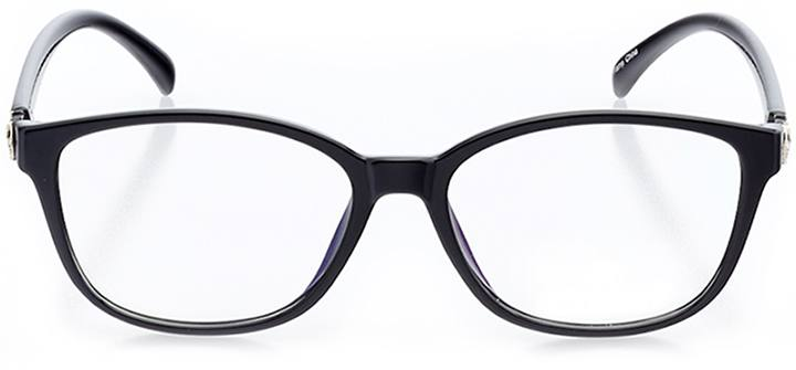 portici: women's square eyeglasses in black - front view