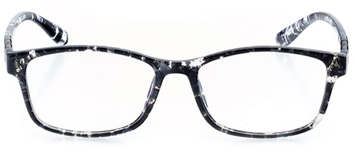 imola: women's rectangle eyeglasses in black - front view