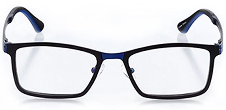 burbank: men's square eyeglasses in blue - front view