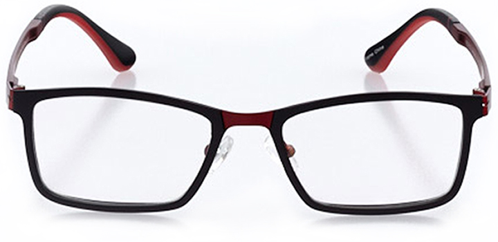 burbank: men's square eyeglasses in red - front view