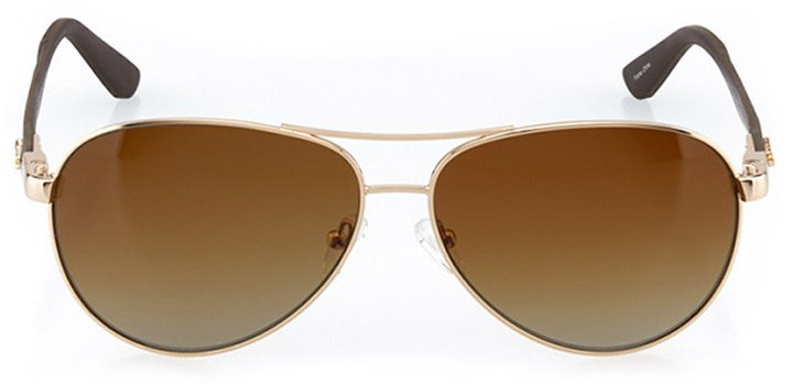 bilbao: men's aviator sunglasses in brown - front view
