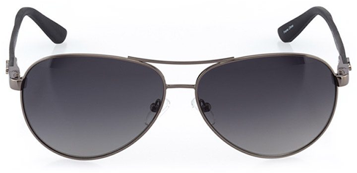 bilbao: men's aviator sunglasses in gray - front view
