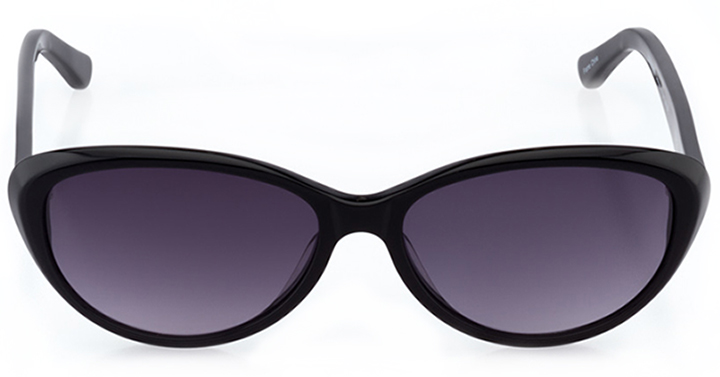 south beach: women's cat eye sunglasses in black - front view