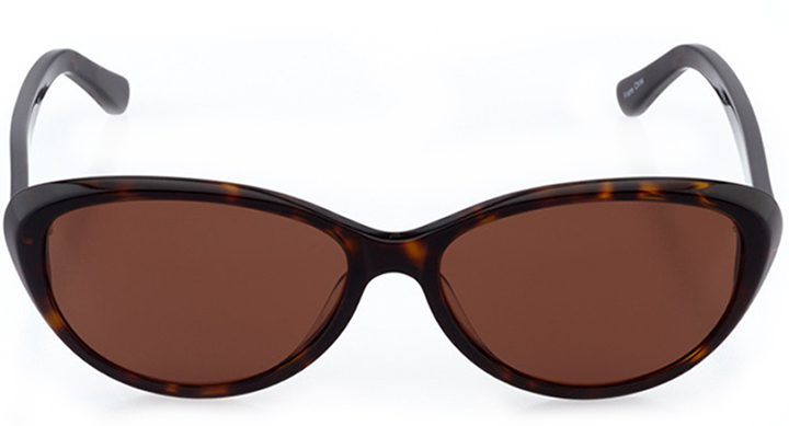 south beach: women's cat eye sunglasses in tortoise - front view