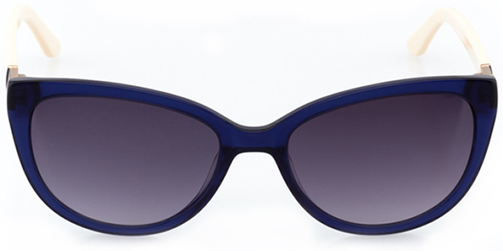 huntington beach: women's cat eye sunglasses in gold - front view