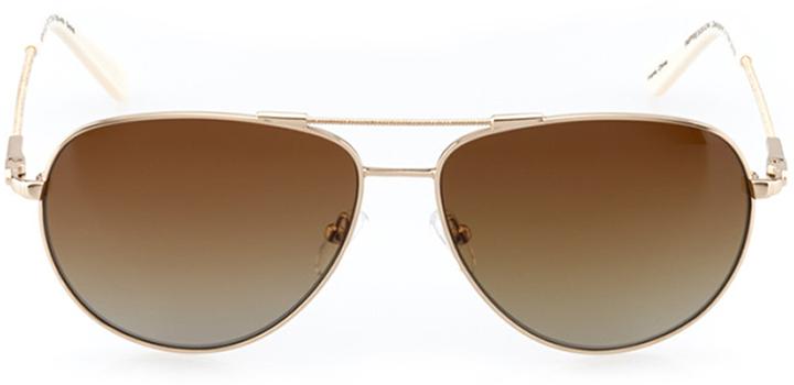 santa monica: women's aviator sunglasses in gold - front view