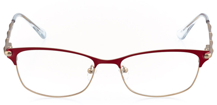 le mans: women's rectangle eyeglasses in gold - front view