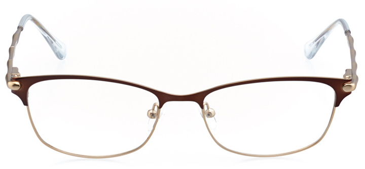 le mans: women's rectangle eyeglasses in brown - front view