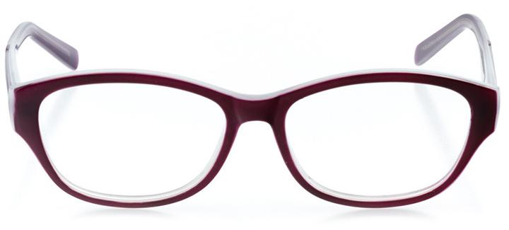 prague: women's cat eye eyeglasses in purple - front view