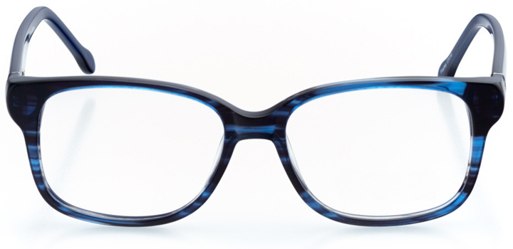 oceanside: women's square eyeglasses in blue - front view