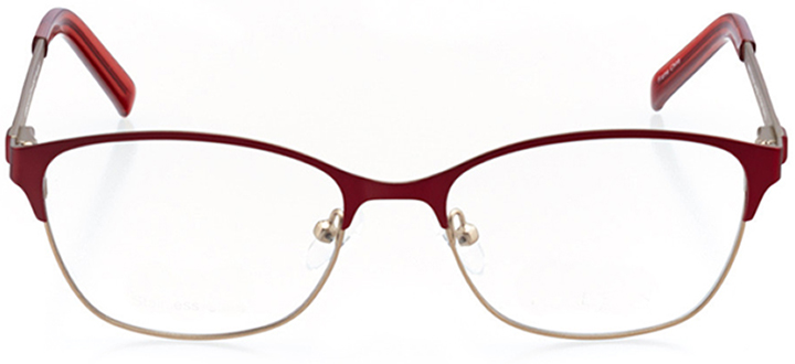 saratoga springs: women's oval eyeglasses in gold - front view