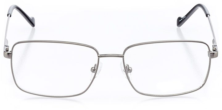 amherst: men's rectangle eyeglasses in gray - front view