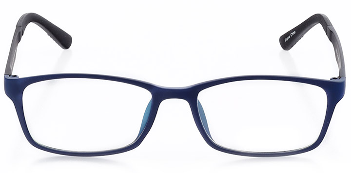 la jolla: men's rectangle eyeglasses in blue - front view