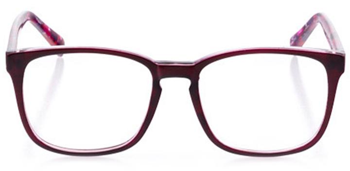 ashland: women's square eyeglasses in orange - front view