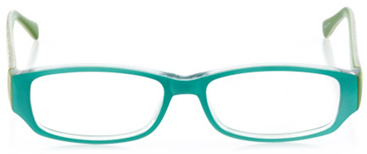 virginia beach: women's rectangle eyeglasses in blue - front view