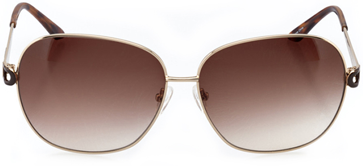 saint-pierre: women's oval sunglasses in gold - front view