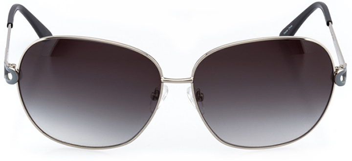 saint-pierre: women's oval sunglasses in silver - front view